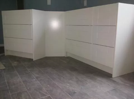 Custom IKEA master bath install