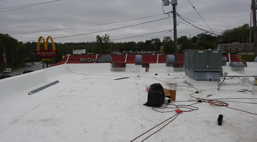 Commercial roof after