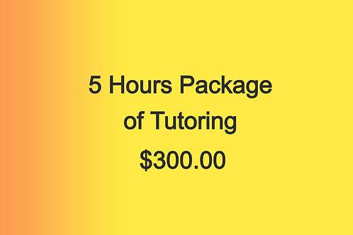 5 hours of tutoring