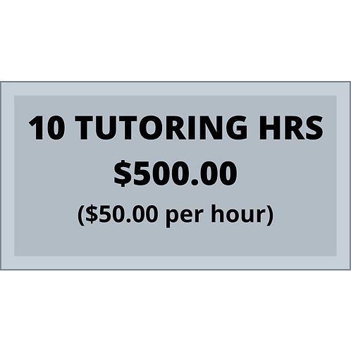 10 Hr block of tutoring