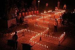 日龍峯寺千灯供養(ローソク祭り)