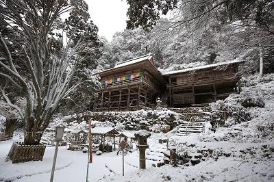日龍峯寺の冬
