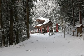 高澤観音の冬(多宝塔)