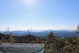 高澤古道見晴台からの眺望