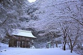 高澤観音の冬(仁王門)