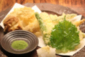 そばのカフェおくど季節の天ぷら