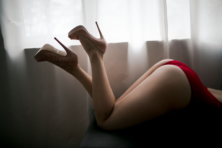 beautiful legs with nude shoes