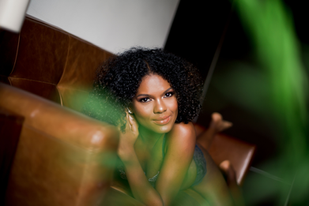 beautiful curls on a woman