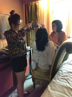 Hair and makeup in Singapore Hotel