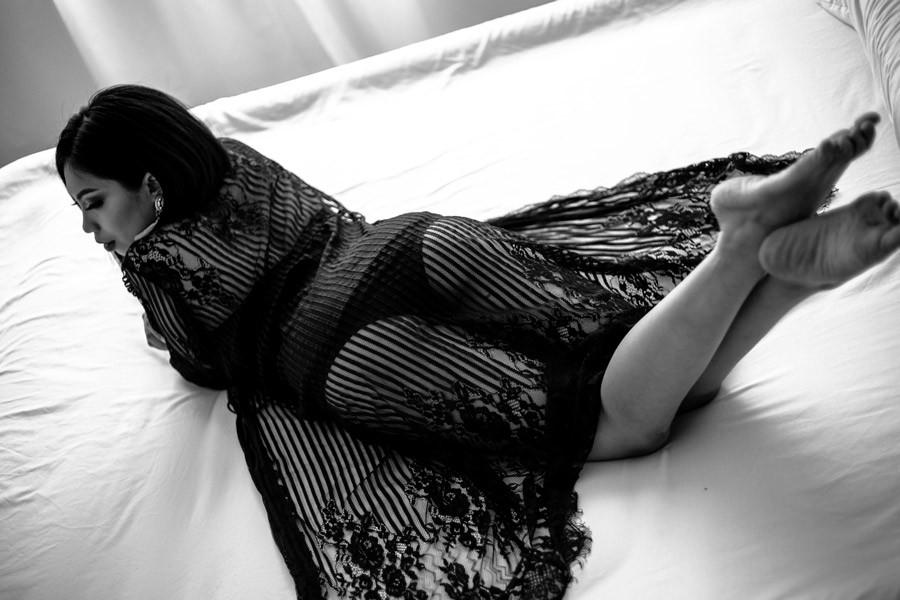 beautiful black lace robe