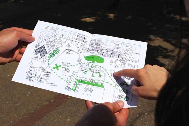Theatre Local Pimlico, Pimlico Market, London, created by Ola Animashawun, Daniel Brodie and Chris Sonnex, designed by Zoe Hurwitz