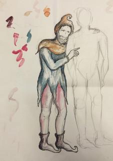 King Lear, rough sketch