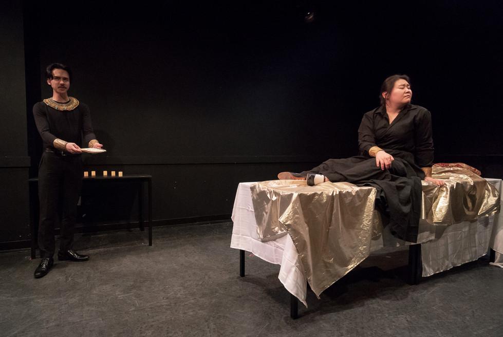 The Dinner Party Operas - 'Hatshepsut' NYU Grad Musical Theatre Dir India Marie Paul/Lights Michael Cunningham/Photo Steven Pisano