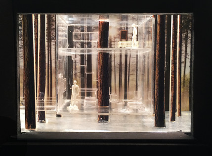 "Hedda Gabler, Rough Model, Paper Project, 1/8"" scale, Yale University Theatre"