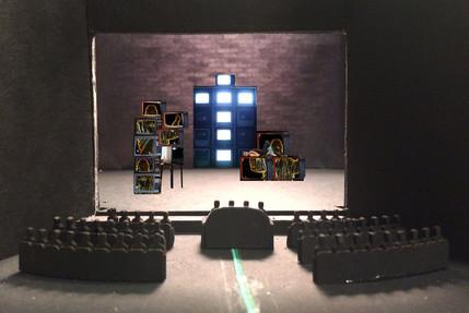 "Seven Deadly Sins, Rough Model, Paper Project, Yale University Theatre, 1/8"" Scale"