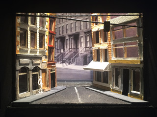 "Yale Original Story, Rough Model, Paper Project, The University Theatre, 1/8"" Scale"