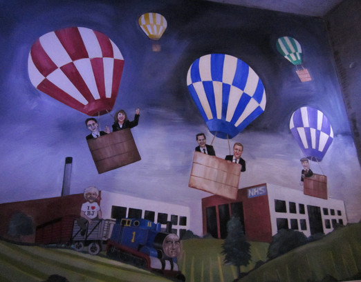 Mural for 'Who Cares' The Royal Court, (Designer Andrew D Edwards)