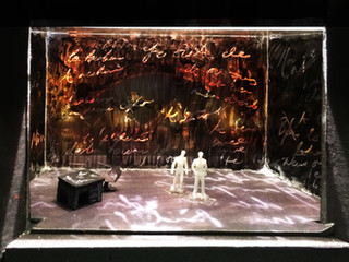 "La Boheme, Rough Model, Paper Project, Yale University Theatre, 1/8"" Scale"
