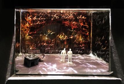 """La Boheme, Rough Model, Paper Project, Yale University Theatre, 1/8"""" Scale"""