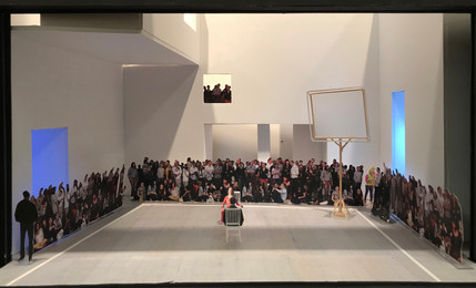 """Orphee, Paper Project, John Jay Theatre, 1/2"""" Scale"""