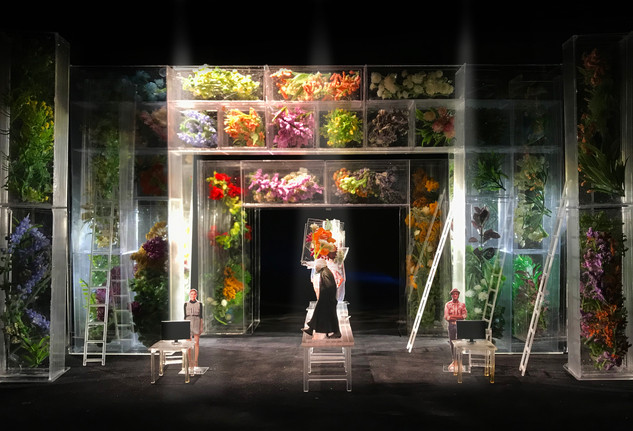 """Far Away By Caryl Churchill, Thesis Project (paper project), The Lyttelton Theatre London (1/2"""" scale)"""