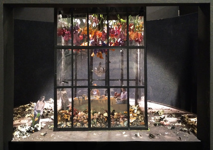 """The Ghost Sonata, Rough Model, Paper Project, The Griffin Theatre, 1/2"""" Scale"""
