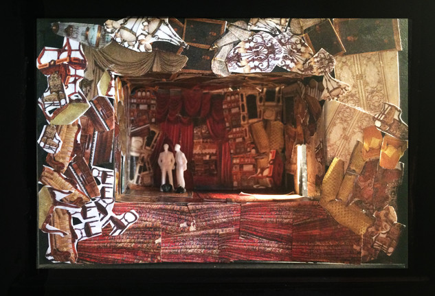 "Hedda Gabbler, Rough Model, Paper Project, rough model 1/8"" scale, Yale University Theatre"