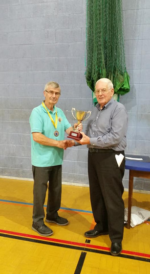 Frankie Thomas and Roy Johnson Castleford BS president