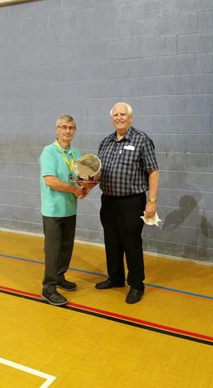 Tony Haywood with Roy Johnson Castleford BS president