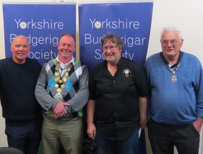 Mick Freakley, Alan Marchant, YBS Chairman Pete Smith & YBS President Geoff Moore