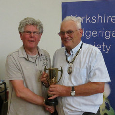 Best dominant pied any age - Neal Porter & YBS president Geoff Moore