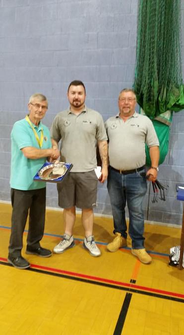 Sam & Nigel Wildes and Roy Johnson Castleford BS president