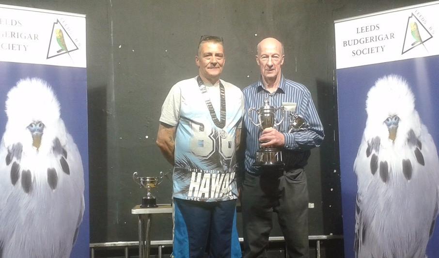 Leeds BS Best in show winner Ray Steele & Leeds BS president Steve Melia
