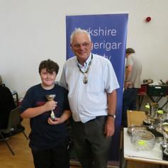 Best junior - Jack Clark & YBS president Geoff Moore