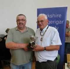 Best blue Nigel Clark & YBS president Geoff Moore