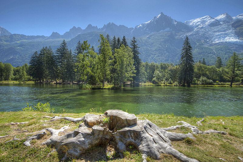 Lake in Chamonix
