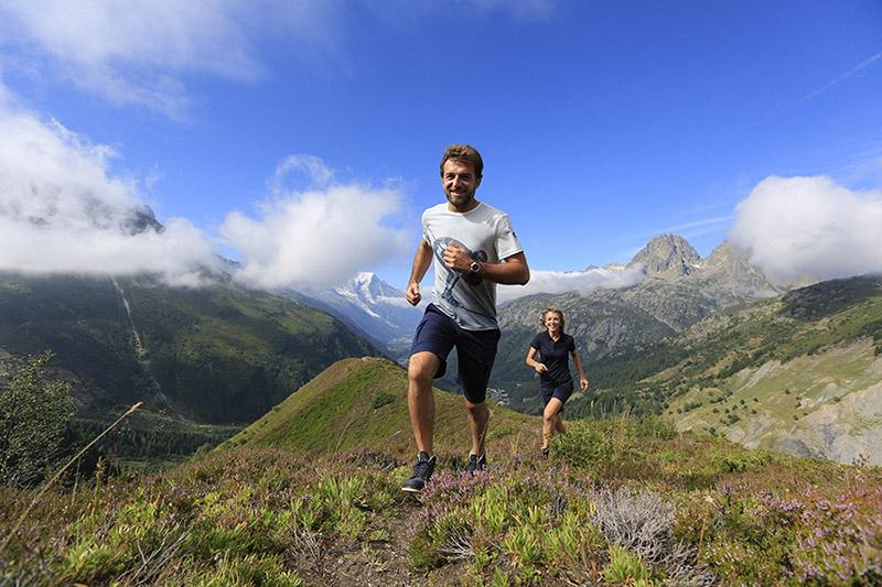 Courir dans les Alpes