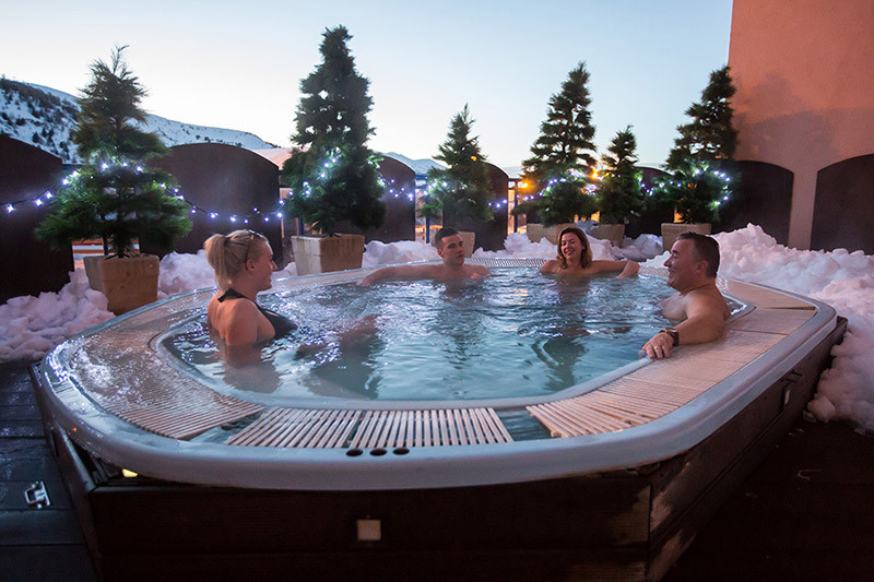 Outdoor Hot Tub Hotel L'Aigle Valmeinier