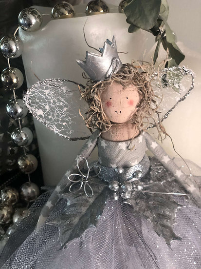 Christmas tree top fairy - Miss Mossy Head