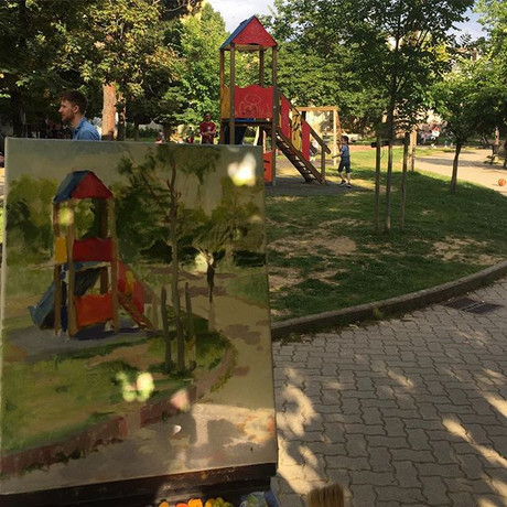 On the playground 🎨🎢⛳️👩🏼‍🎨👦🏻🧒🏻�