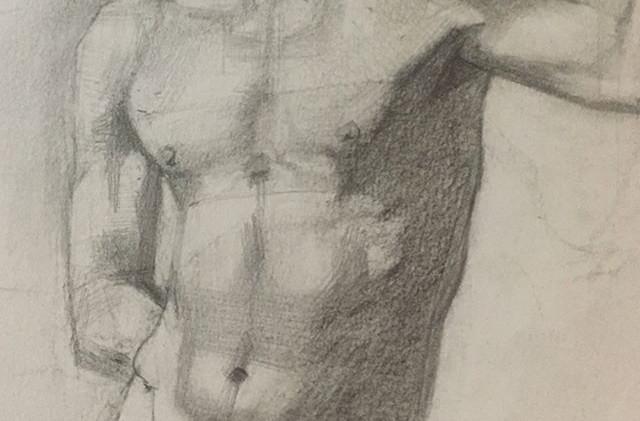 Cosimo_40X50cm pencil on toned paper #fi