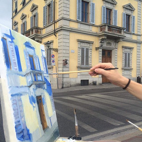 6am painting at Lungarno Serristori