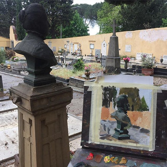 Sketching on a graveyard in Fiesole🖌#oi