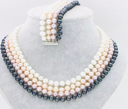 Four row multicolored Pearl set