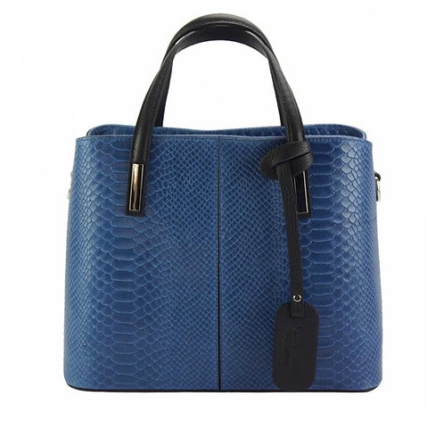 The Vanessa Leather croco-Blue