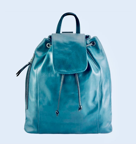 TheMilan leather Backpack: Blue & Black