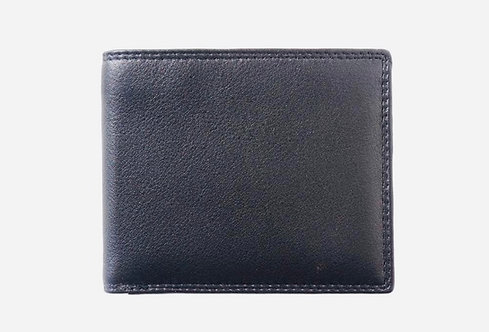The Bifold Men's leather wallet: Black