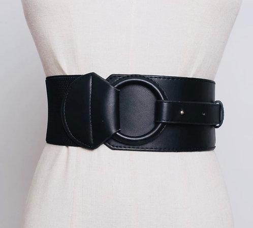 Wide Black Buckle belt