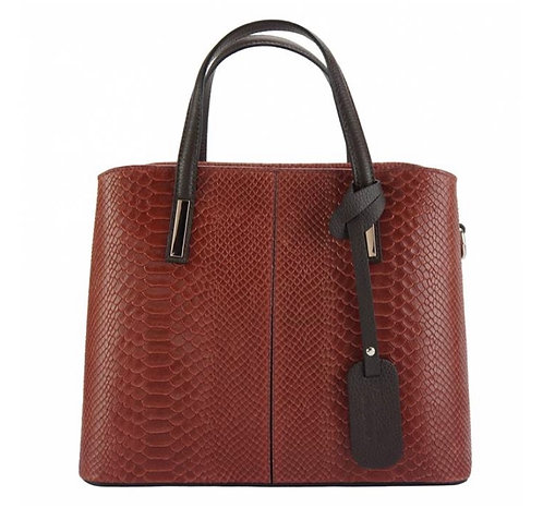 The Vanessa leather Croco -red