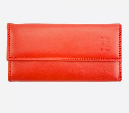 The women's four fold wallet: red